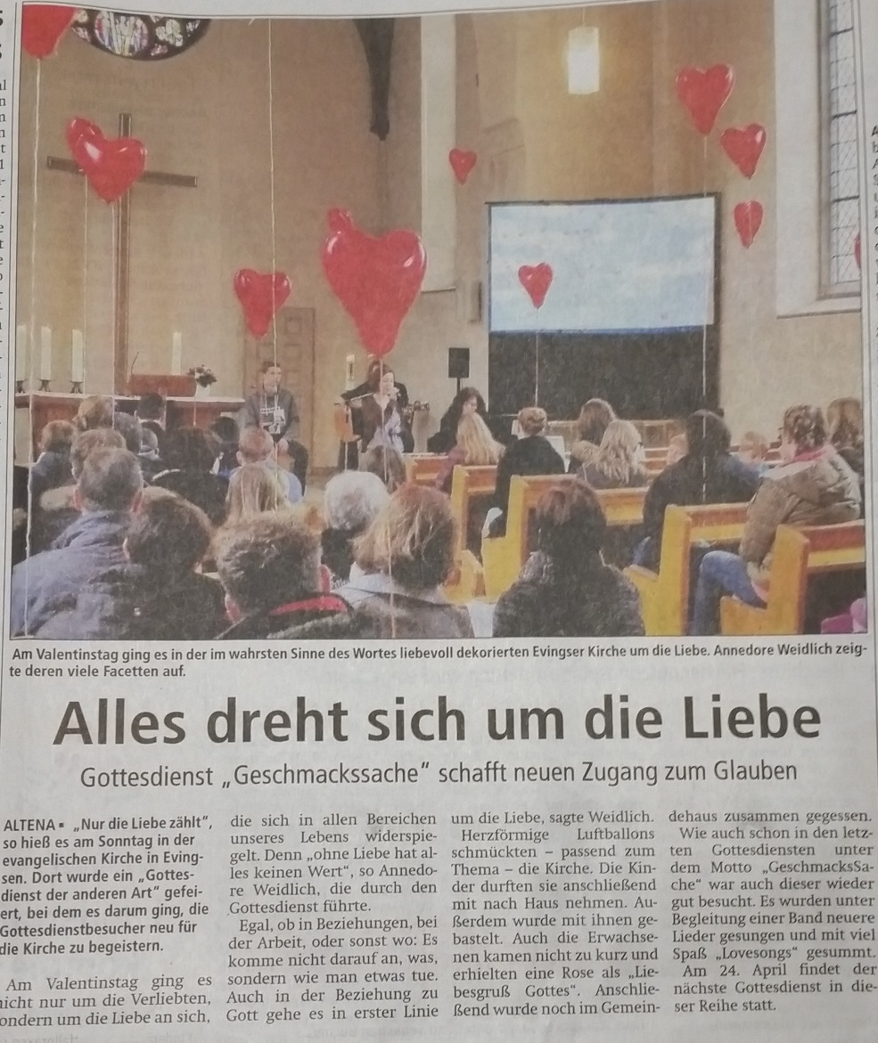 Valentinstag in der kirche